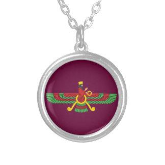 Faravahar symbol silverpläterat halsband