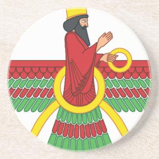 Faravahar symbol underlägg för glas