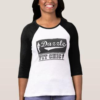Färdig chic baseball för glitter 3/4 sleeveskjorta t-shirts