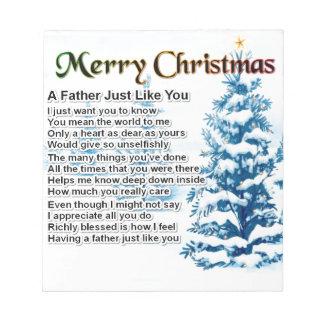 Fardikt - juldesign anteckningsblock