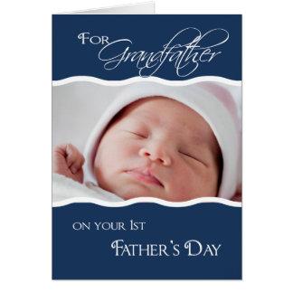 Farfar 1st fars dag - fotokort hälsningskort