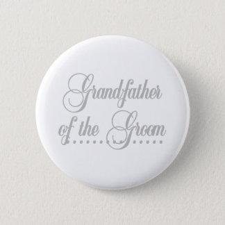 Farfar av brudgumgråttelegans standard knapp rund 5.7 cm