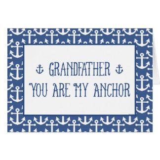 Farfar-Du Vara My Ankra-Lycklig fars dag Hälsningskort