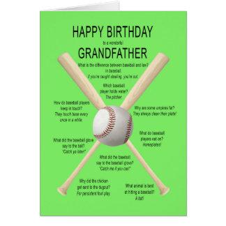 Farfar födelsedagbaseballskämt hälsningskort