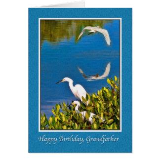 Farfar födelsedagkort, Egretfåglar Hälsningskort