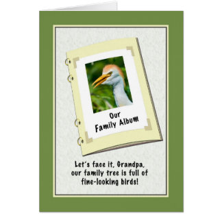 Farfar födelsedagkort med nötkreaturegreten hälsningskort