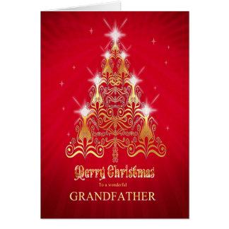Farfar julgranjulkort hälsningskort