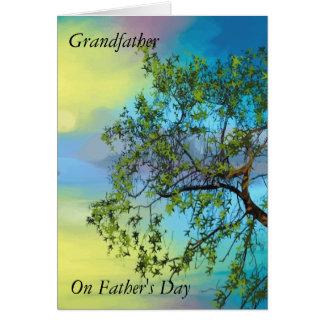 Farfar på fardag hälsningskort