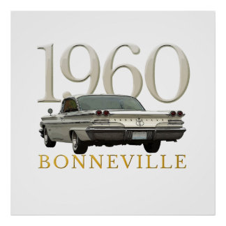 Färg '60 Pontiac coupeaffisch Poster