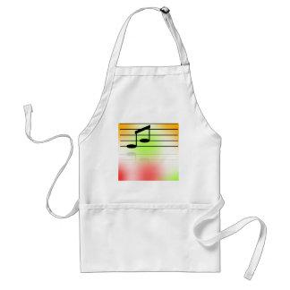 Färg av musik förkläde