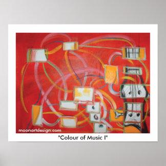 """""""Färg av musik jag """", Poster"""