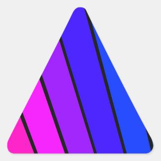 Färg, färg och mer färg triangelformat klistermärke