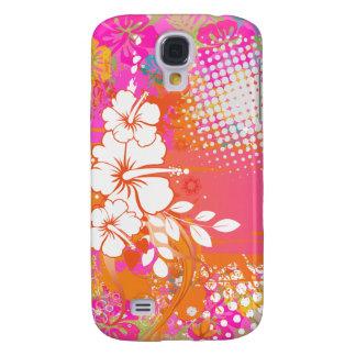 Färg för bakgrund för PixDezines grunge Galaxy S4 Fodral