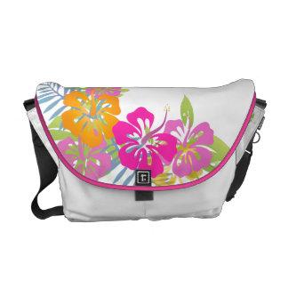 Färg för bakgrund för PixDezines hibiskus leis/diy Messenger Bag