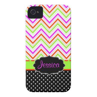 Färg för bakgrund för PixDezines sparreneon iPhone 4 Cases