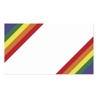 Färg för regnbågejämställdhetpride görar randig vi visitkort mallar