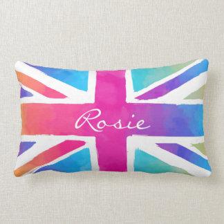 Färg för Tie för flagga för Britannien patriotism Lumbarkudde