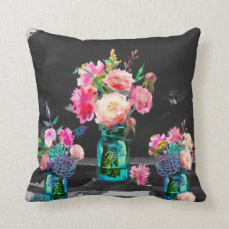 Färg i den mörka dubbelsidiga dekorativ kudde