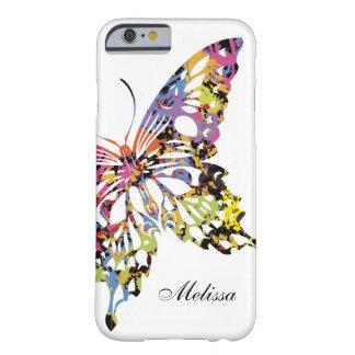 Färg plaskat fodral för fjärilsiPhone 6 Barely There iPhone 6 Skal