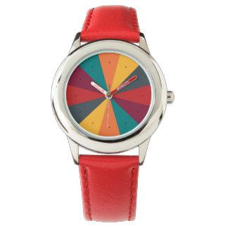 Färg rullar den roliga klockan armbandsur