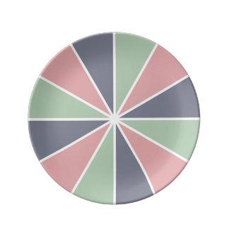 Färg rullar/strålar som beställnings- porslin