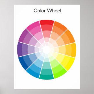 Färg rullar - tända poster