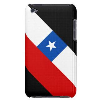 Färg som kan ändras för bakgrund för Chile flagga Barely There iPod Skal