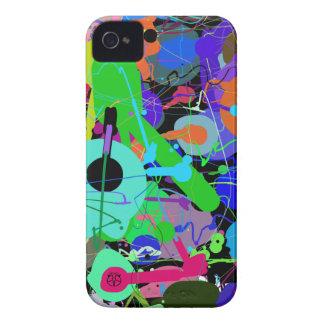 Färg tappar det abstrakt blackberry boldfodral iPhone 4 Case-Mate fodral