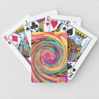 färg virvlar runt a19 spelkort