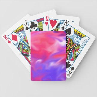 Färg virvlar runt leka kort 1 spelkort