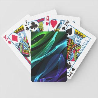 Färg virvlar runt leka kort spelkort