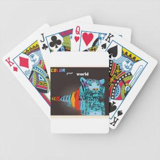 Färga din världstillbehör spelkort