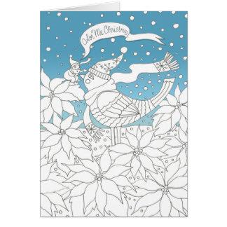 Färga mig jul som färgar bokkonst hälsningskort