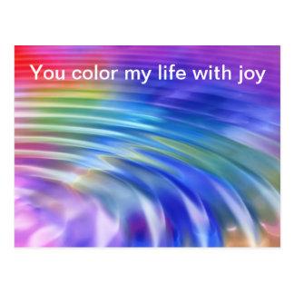 Färga min livvärld med glädje vykort