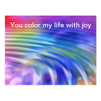 Färga mitt liv med glädje vykort