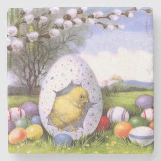 Färgad äggbomull för påsk chick underlägg sten
