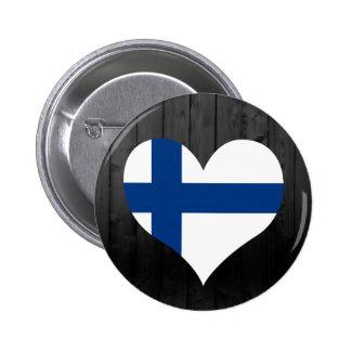 Färgad Finland flagga Standard Knapp Rund 5.7 Cm