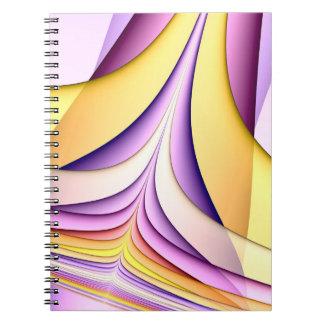 Färgad fractal för pastell. Gult rosa som är Anteckningsbok