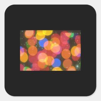 Färgadljus. (ljus; colored_Spaceplatser Fyrkantigt Klistermärke