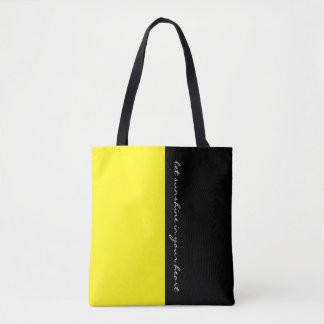 Färgar enkelt CITRONEN - gulna & din text Tygkasse