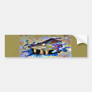 Färgat piano för funky Digital Bildekal