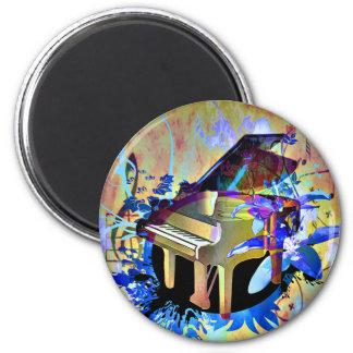 Färgat piano för funky Digital Magnet