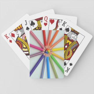 Färgat ritar leka kort casinokort