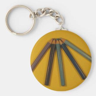 Färgat ritar rund nyckelring