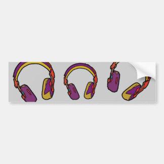 färgdj-headphone bildekal