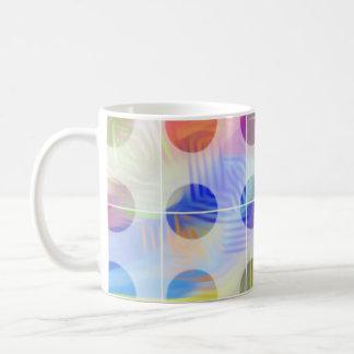 färgeden cirklar kaffemugg