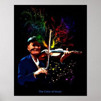 Färgen av musik poster