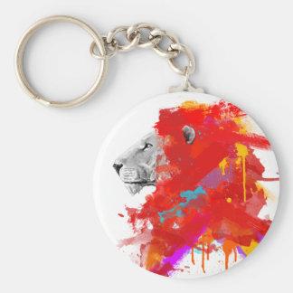 Färger av kurage rund nyckelring
