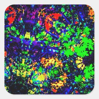 Färger av midnatt fyrkantigt klistermärke