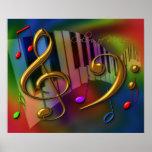 färger av musik 20x24 print